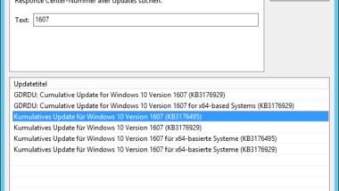 Windows 10 Anniversary Update 1607 für WSUS verfügbar