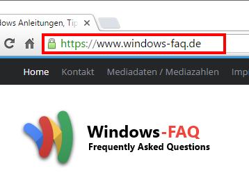 Windows FAQ ist ab sofort über SSL (HTTPS) erreichbar
