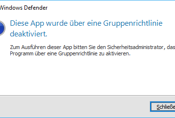 Windows Defender komplett deaktivieren