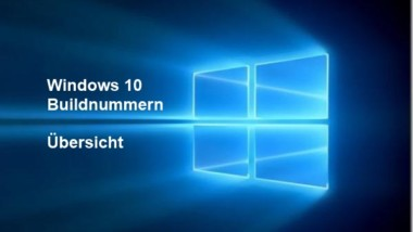 Übersicht Windows 10 Buildnummern und Windows Updates