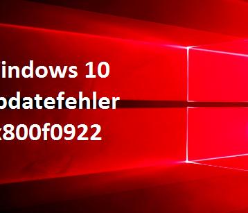0x800f0922 Windows Update Fehler