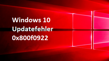 0x800f0922 Windows Update Fehler