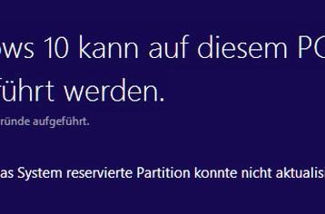 0xc1900201 Fehlercode beim Windows 10 Anniversary Update