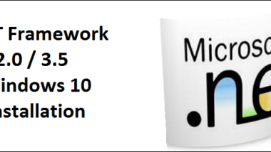.Net Framework 2.0 und 3.5 unter Windows 10 installieren