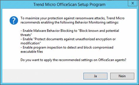 OfficeScan XG Ransomware