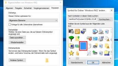 Windows 10 Ordner ohne Symbol und Namen verstecken