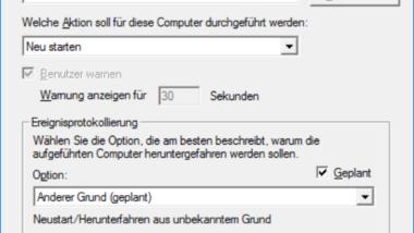 Shutdown Befehl und mögliche Parameter