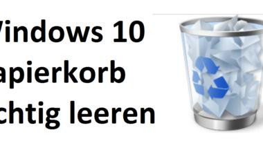 Windows 10 Papierkorb leert sich nicht