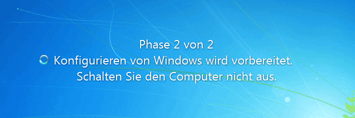 Windows Updates Phase 2 von 2