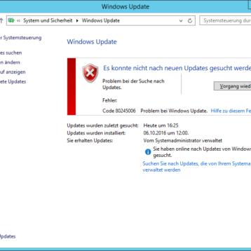 Windows Update Fehlercode 0x80245006