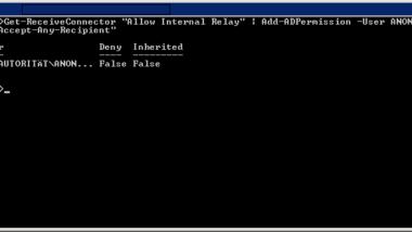 E-Mail Relay ohne Authentifizierung auf Exchange 2010 einrichten – Fehler (0x8004020f)