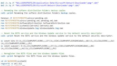 Windows 10 Update Probleme mit einem Script beheben