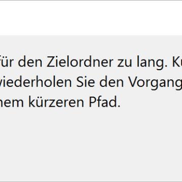 Windows 10 Ordnernamen und Dateinamen größer 260 Zeichen