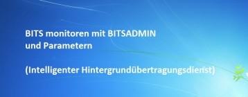BITS monitoren mit BITSADMIN und Parametern (Intelligenter Hintergrundübertragungsdienst)