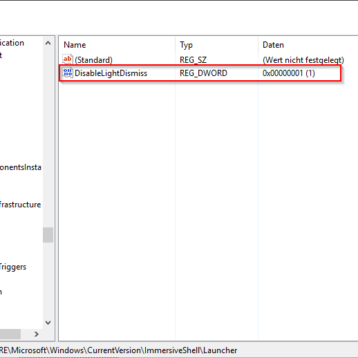 Windows 10 Info-Center immer im Vordergrund halten
