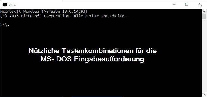 ms-dos-eingabeaufforderung-tastenkombinationen