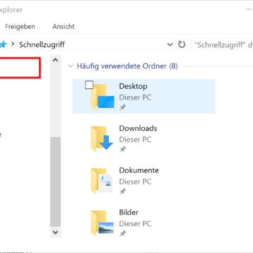 OneDrive aus Windows 10 Explorer entfernen