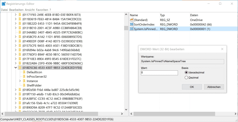 onedrive entfernen windows 10