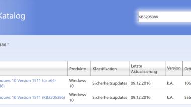 Update KB3205386 und Update KB3205383