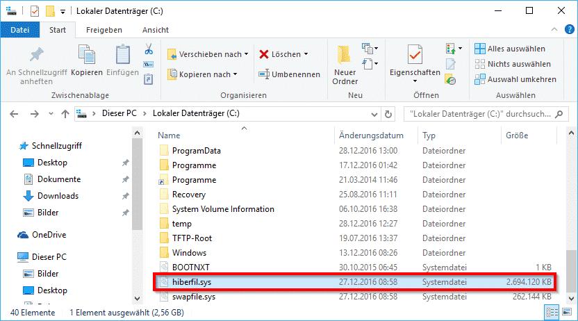 hiberfil-sys-im-windows-explorer