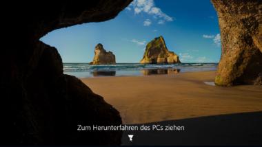 """Windows 10 herunterfahren mit dem Befehl """"SlideToShutDown"""""""