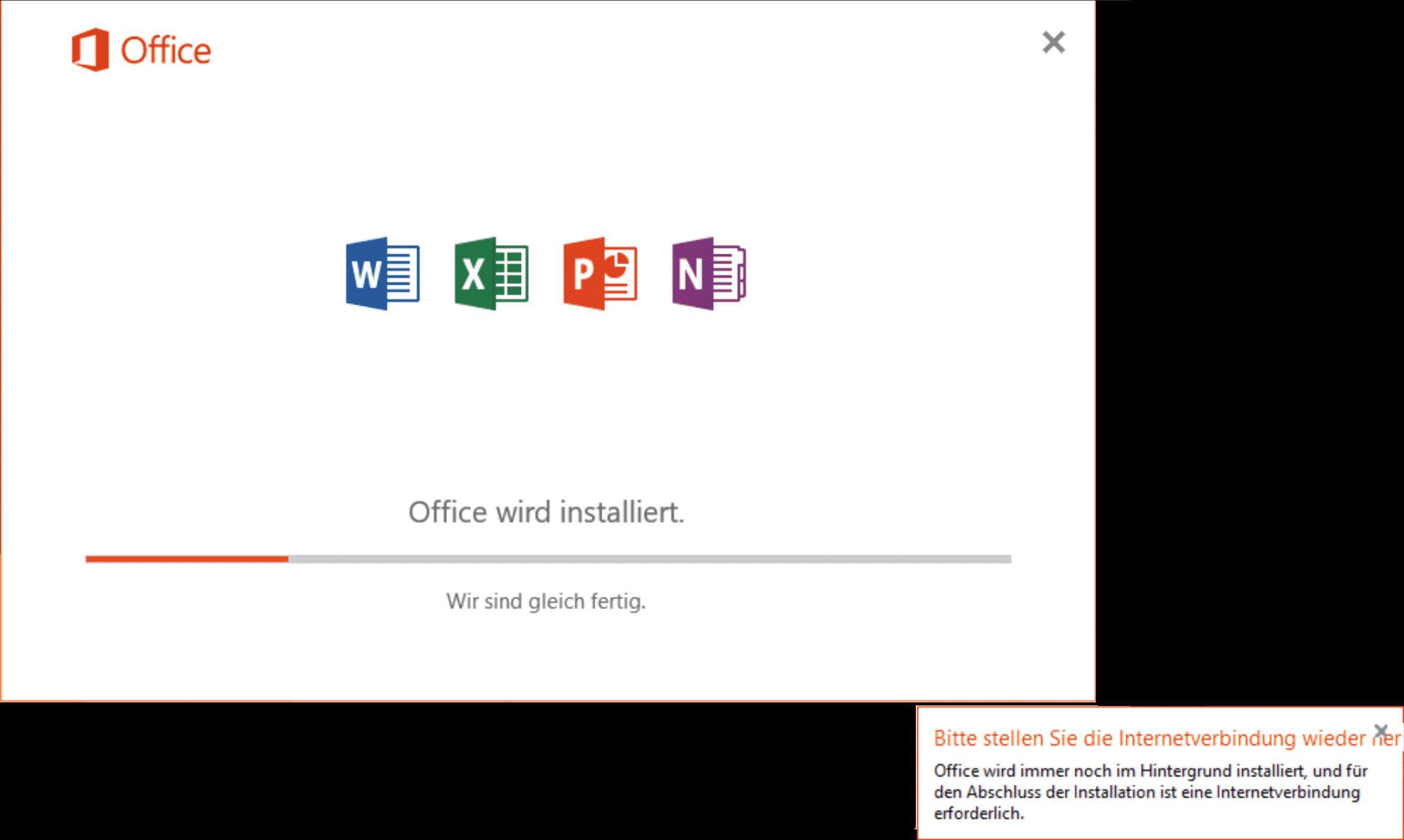 office-wird-installiert-bitte-stelen-sie-die-internetverbindung-wieder-her