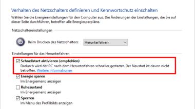 Windows Betriebszeit (Laufzeit) stimmt nicht im Taskmanager bei Windows 10