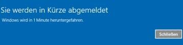 Windows 10 zeitgesteuert per Befehl herunterfahren