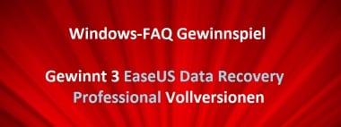 Gewinnspiel – Gewinnt 3 Vollversionen vom EaseUS Data Recovery Wizard Professional