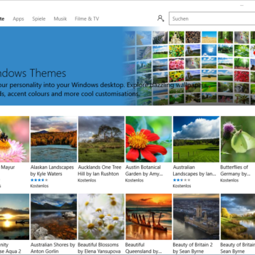 Neue Windows Themes & Designs App in Windows 10 Creators Update