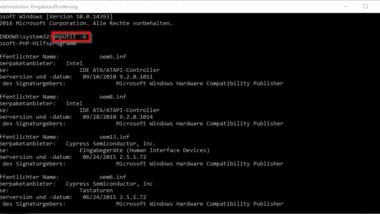 Druckertreiber unter Windows 10 löschen mit PNPUTIL