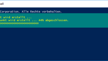 Windows 10 System-Wiederherstellungspunkt mit der PowerShell erstellen