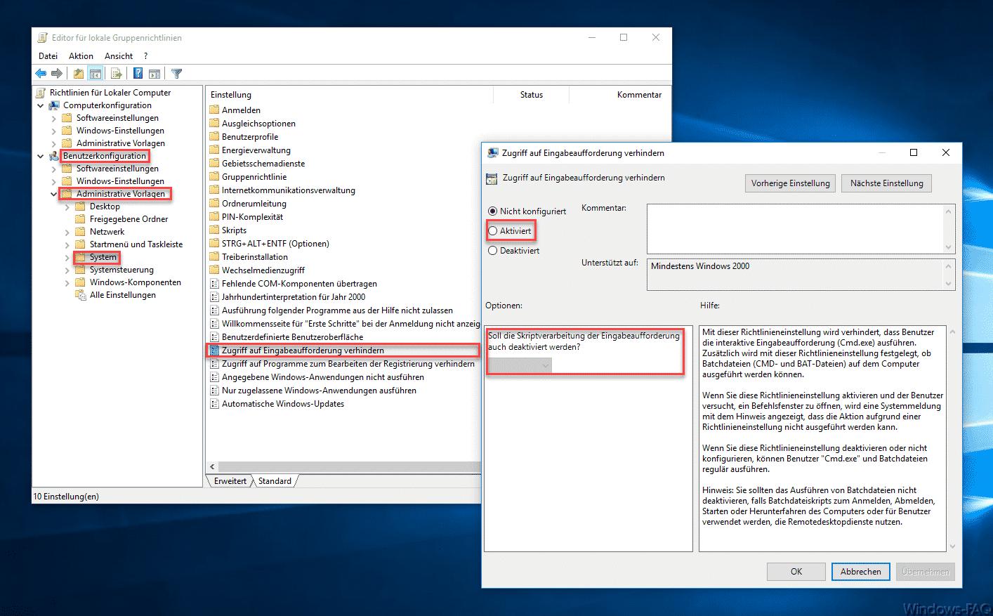 Ausführen der MS-DOS Eingabeaufforderung (CMD) verhindern » DOS ...