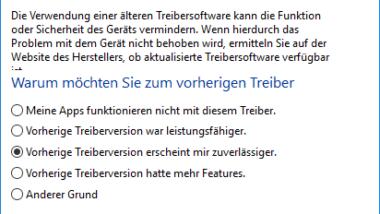 Zum letzten installierten Windows Gerätetreiber zurückkehren (Treiber Rollback)
