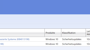 KB4013198 Update für Windows 10 Version 1511