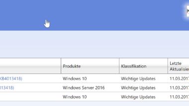 Update KB4013418 und KB4013419 für Windows 10 Anniversary erschienen