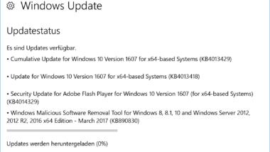 KB4013429 Kumulatives Update für Windows 10 Version 1607 Anniversary