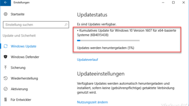 KB4015438 Update für Windows 10 Anniversary Build 14393.969
