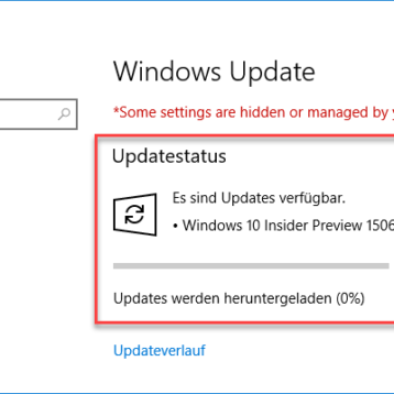 Windows 10 Insider Preview 15063 (Creators Update) im Fast und Slow Ring verfügbar