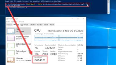 Windows Systemlaufzeit per PowerShell ermitteln