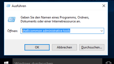 Systemverwaltungs-Tools in Windows 10 aufrufen