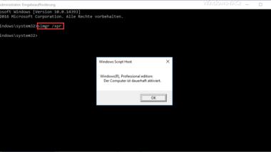 Windows 10 Aktivierung überprüfen