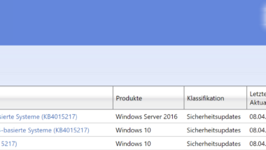 KB4015217 Update für Windows 10 Anniversary Build 14393.1083