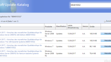 Update KB4015552 für Windows 7 und Server 2008 R2 erschienen