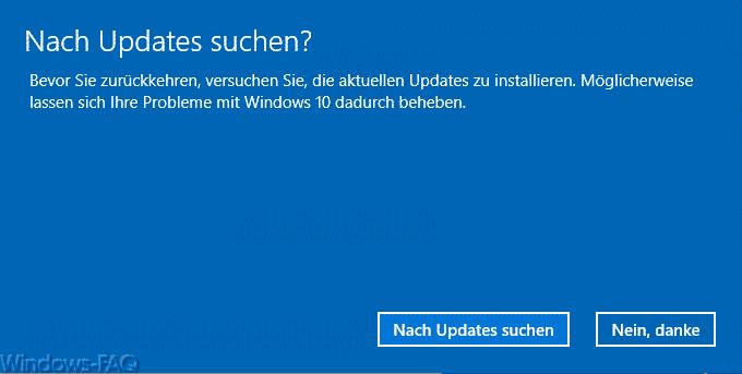 Nach Updates suchen?