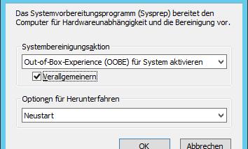 Windows Server 2012 R2 clonen – SYSPREP