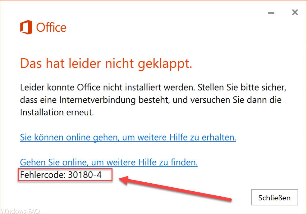 ms office error code 30180-4