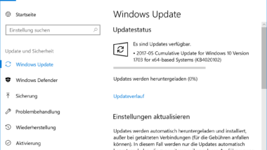 KB4020102 für Windows 10 Version 1703 Creators Update erschienen – Build 15063.332