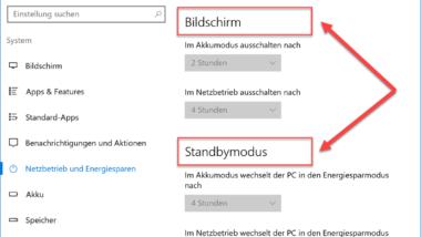 Windows Energieoptionen für Bildschirm und Standbymodus über GPO einstellen