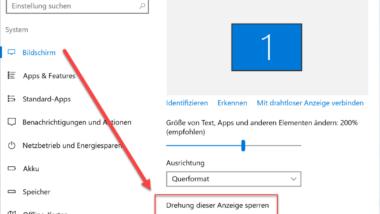 Automatisches Drehen der Bildschirm / Monitoranzeige deaktivieren – AutoRotation